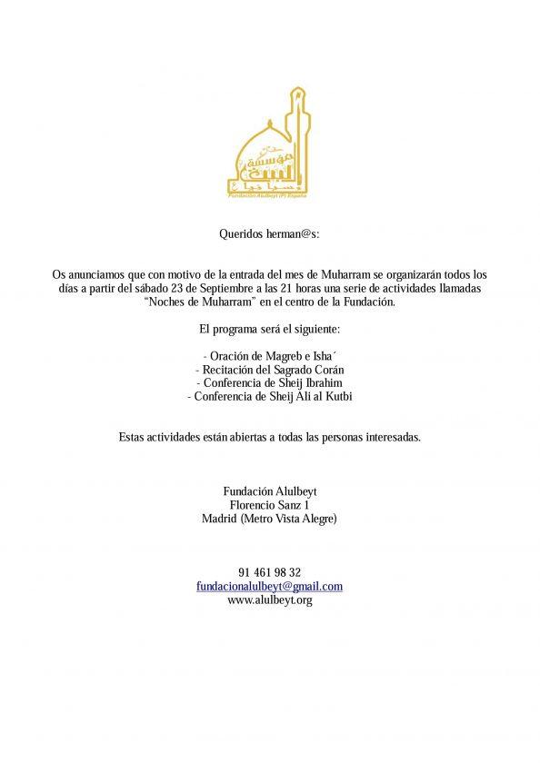 Muharram en la Fundación Alulbeyt