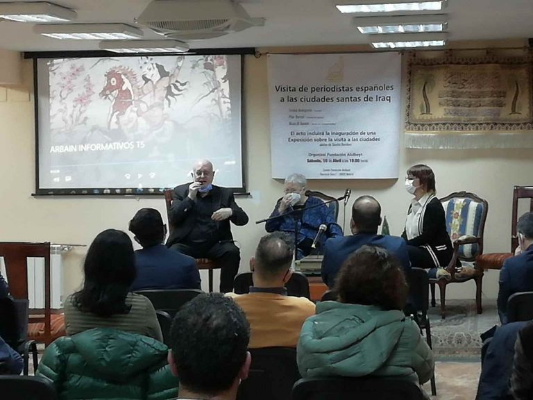 Periodistas españoles hablan de su viaje a Kerbala y Nayaf en Arbaín